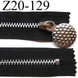 fermeture éclair longueur 20 cm couleur noir non séparable zip métal  largeur 2.7 cm largeur du zip 4.5 mm curseur 2.3 cm