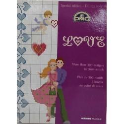 DMC édition spéciale love point de croix livre mango pratique