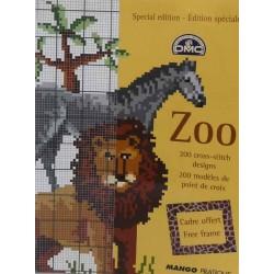 DMC édition spéciale zoo point de croix livre mango pratique