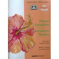 DMC édition spéciale variations fleuries point de croix livre mango pratique