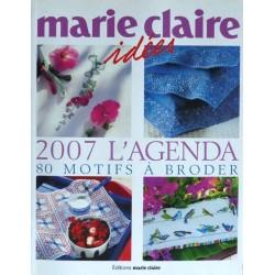 Marie Claire revue 2007 l'agenda 80 motifs à broder