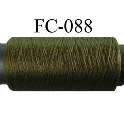 bobine de fil mousse polyamide couleur vert kaki longueur 200 mètres largeur de la bobine 5.5 cm diamètre 2.5 cm
