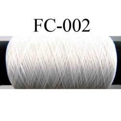 bobine de fil n° 110 polyester couleur blanc lumineux longueur 200 mètres largeur de la bobine 5.5 cm diamètre 2.5 cm