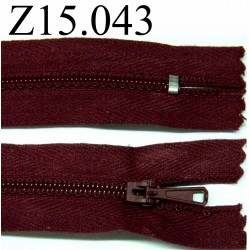fermeture éclair 15 cm couleur bordeaux zip nylon