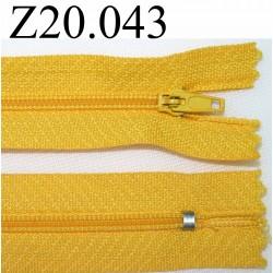 fermeture 20 cm couleur jaune zip nylon