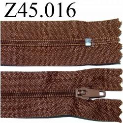 fermeture éclair 45 cm couleur marron zip nylon