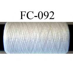 bobine de fil de soie couleur blanc longueur 50 mètres largeur de la bobine 5.5 cm diamètre 2 cm