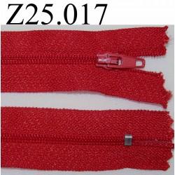fermeture 25 cm couleur rouge zip nylon