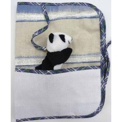 carnet de santé à broder avec peluche panda