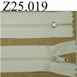 fermeture 25 cm couleur beige zip nylon