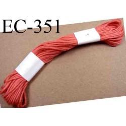 Echevette coton retors couleur rose ref 351 art 89 le lot de 100 pièces