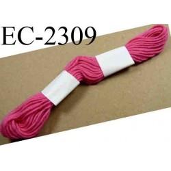 Echevette coton retors couleur rose ref 2309 art 89 le lot de 100 pièces