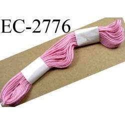 Echevette coton retors couleur rose ref 2776 art 89 le lot de 100 pièces