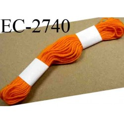Echevette coton retors couleur orange ref 2740 art 89