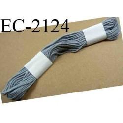 Echevette coton retors couleur gris ref 2124 art 89 le lot de 100 pièces