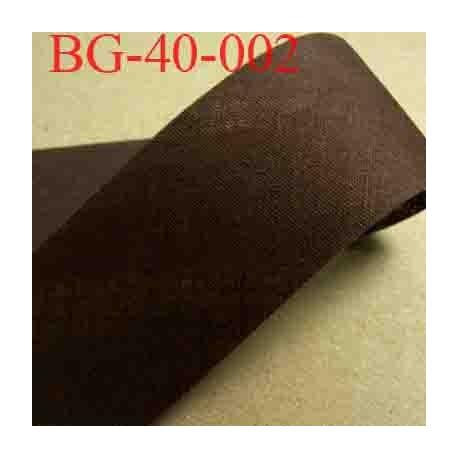 biais ruban galon a plat à plier en coton couleur marron chocolat largeur 4 cm vendue au mètre