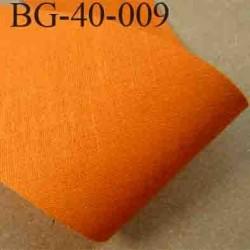 biais ruban galon a plat à plier en coton couleur orange largeur 4 cm vendue au mètre