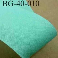 biais ruban galon a plat à plier en coton couleur vert largeur 4 cm vendue au mètre