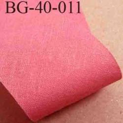 biais ruban galon a plat à plier en coton couleur rose largeur 4 cm vendue au mètre