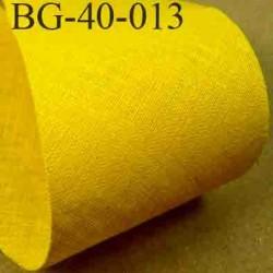 biais ruban galon a plat à plier en coton couleur jaune bouton d'or largeur 4 cm vendue au mètre