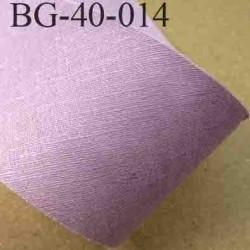 biais ruban galon a plat à plier en coton couleur parme lilas largeur 4 cm vendue au mètre