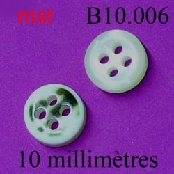 bouton diamètre 10 mm couleur marbré nacré 4 trous