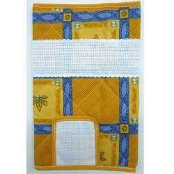 carnet de santé à broder coton imprimé