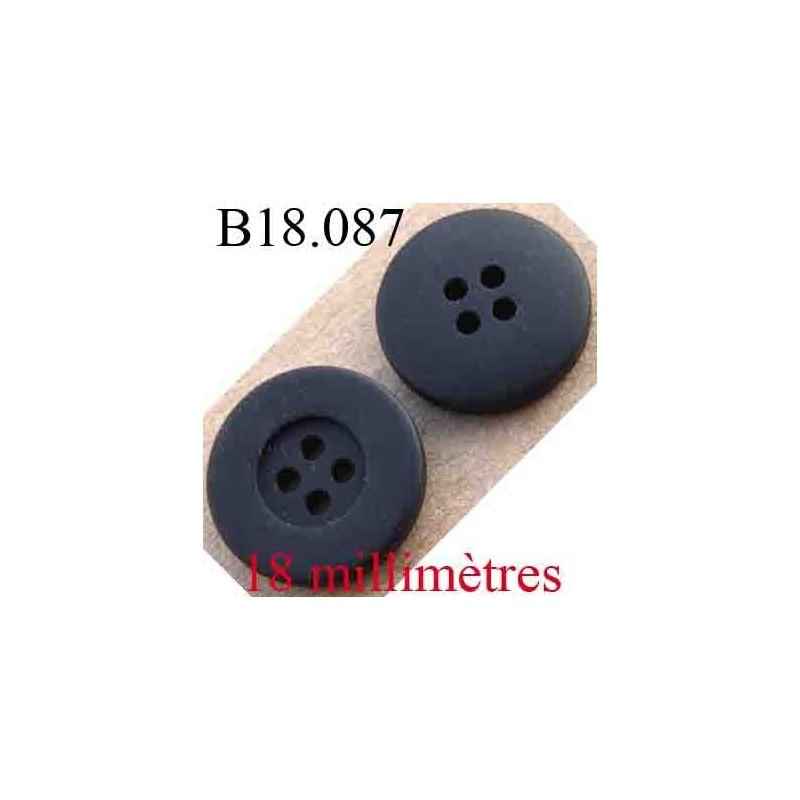 Bouton 18 mm couleur noir anthracite 4 trous diam tre 18 mm mercerie extra - Couleur noir anthracite ...