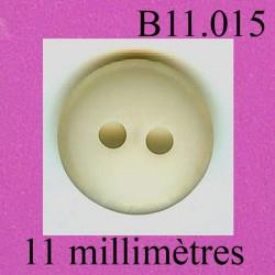 bouton 11 mm 2 trous