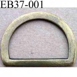 Boucle etrier anneau demi rond  métal style ancien  largeur extérieur 3.7 cm intérieur 2.9 cm  hauteur  2.8 cm
