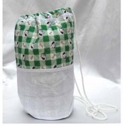 sac polochon à broder coton imprimé