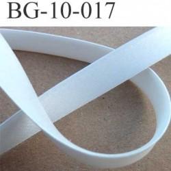 galon biais ruban passe poil plié largeur 10 mm plus 3 rebords  plié de 10 mm couleur satin souple brillant blanc 100 % coton