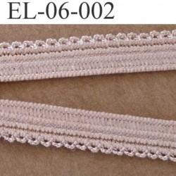 élastique plat boucles dentelle couleur rose chair largeur 6 mm vendu au mètre