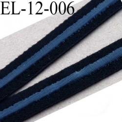 élastique plat avec une bande anti glisse haute gamme superbe qualité couleur noir largeur 12 mm avec une bande style silicone