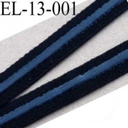 élastique plat avec une  bande anti glisse haute gamme superbe qualité couleur noir largeur 13 mm avec une bande style silicone
