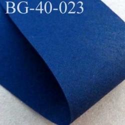 biais ruban galon a plat à plier en coton couleur bleu largeur 4 cm vendu au mètre