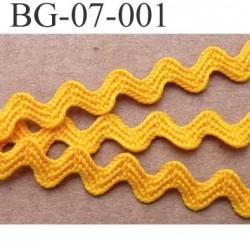 biais ruban galon plat  largeur 7 mm épaisseur 1 mm couleur jaune orangé vendu au mètre