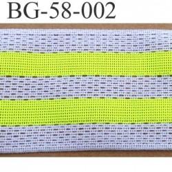 biais galon ruban couleur rouge blanc et jaune fluo largeur 58 mm synthétique vendu au mètre
