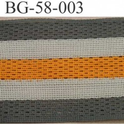 biais galon ruban couleur vert kaki beige et orange largeur 58 mm synthétique vendu au mètre