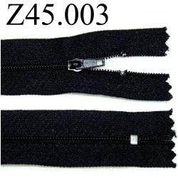 fermeture 45 cm couleur noir zip nylon