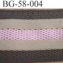 biais galon ruban couleur vert kaki beige et rose largeur 58 mm synthétique vendu au mètre