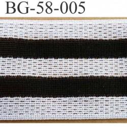 biais galon ruban couleur noir et blanc largeur 58 mm synthétique vendu au mètre