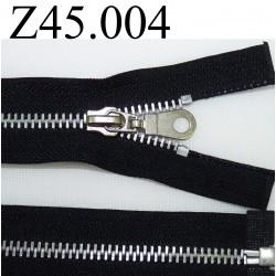 fermeture 45 cm noir séparable zip métal