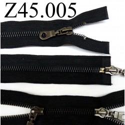 fermeture 45 cm noir double curseur séparable zip métal