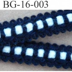 biais galon ruban couleur bleu et blanc  largeur 16 mm vendu au mètre