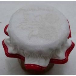 charlotte couvre pot à confiture à broder framboises