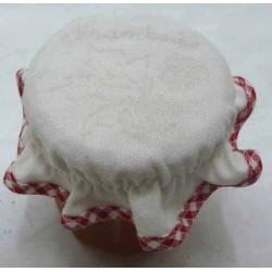 charlotte couvre pot à confiture à broder biais vichy