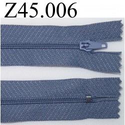 fermeture 45 cm bleu zip nylon