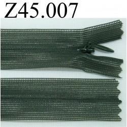 fermeture 45 cm vert invisible zip nylon