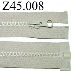 fermeture 45 cm beige séparable zip nylon